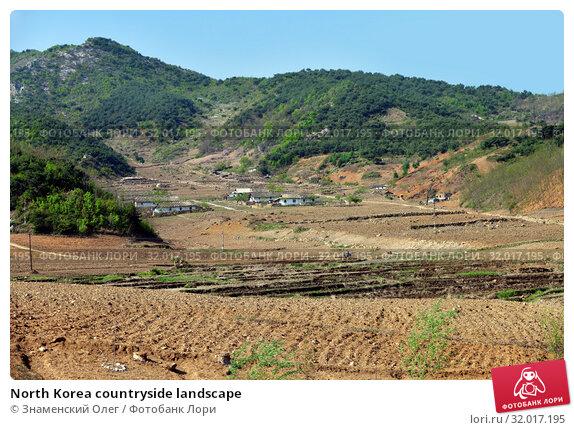 Купить «North Korea countryside landscape», фото № 32017195, снято 3 мая 2019 г. (c) Знаменский Олег / Фотобанк Лори