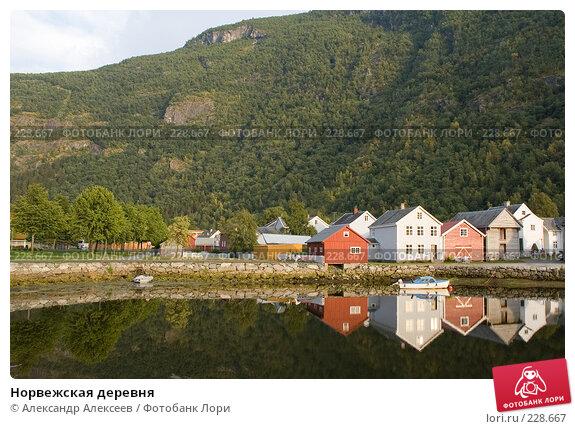 Норвежская деревня, эксклюзивное фото № 228667, снято 30 июля 2006 г. (c) Александр Алексеев / Фотобанк Лори