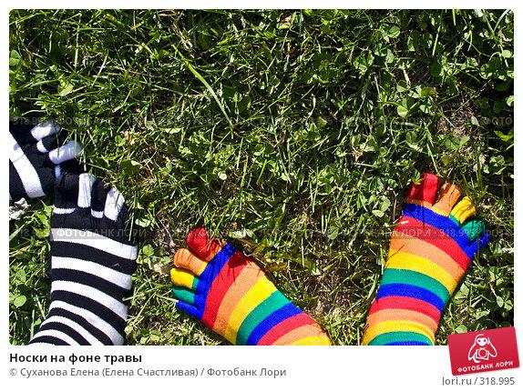 Носки на фоне травы, фото № 318995, снято 8 июня 2008 г. (c) Суханова Елена (Елена Счастливая) / Фотобанк Лори