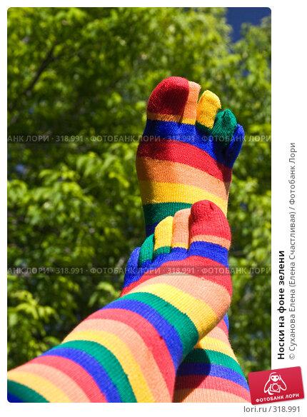 Носки на фоне зелени, фото № 318991, снято 8 июня 2008 г. (c) Суханова Елена (Елена Счастливая) / Фотобанк Лори
