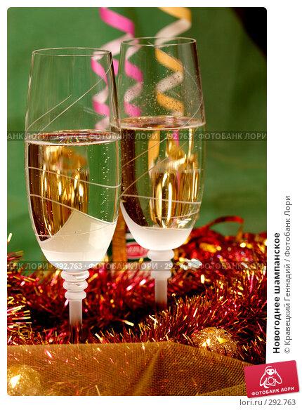 Новогоднее шампанское, фото № 292763, снято 13 ноября 2004 г. (c) Кравецкий Геннадий / Фотобанк Лори