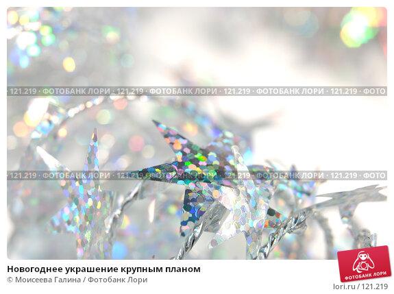 Новогоднее украшение крупным планом, фото № 121219, снято 5 ноября 2007 г. (c) Моисеева Галина / Фотобанк Лори