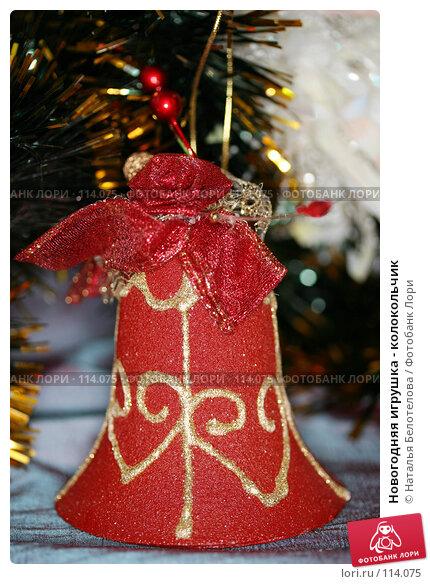 Купить «Новогодняя игрушка - колокольчик», фото № 114075, снято 7 ноября 2007 г. (c) Наталья Белотелова / Фотобанк Лори