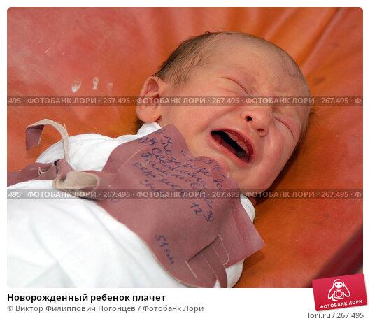 Новорожденный ребенок плачет, фото № 267495, снято 25 сентября 2006 г. (c) Виктор Филиппович Погонцев / Фотобанк Лори
