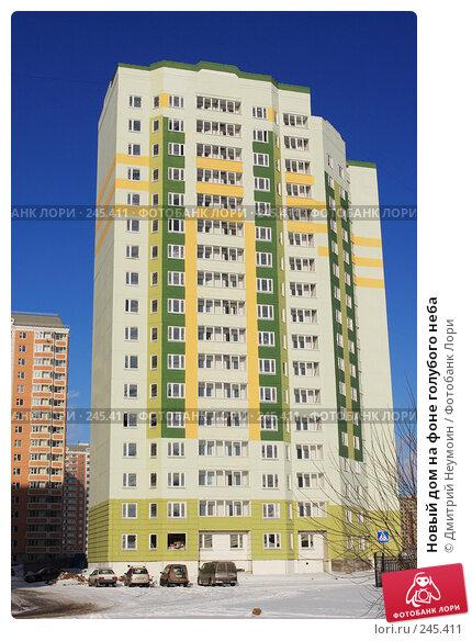 Купить «Новый дом на фоне голубого неба», эксклюзивное фото № 245411, снято 3 февраля 2008 г. (c) Дмитрий Неумоин / Фотобанк Лори
