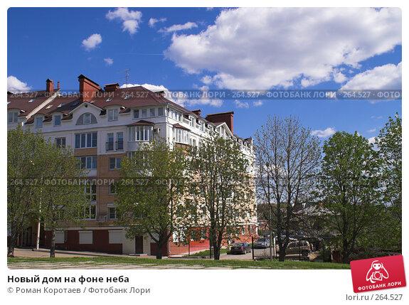Купить «Новый дом на фоне неба», фото № 264527, снято 26 апреля 2008 г. (c) Роман Коротаев / Фотобанк Лори