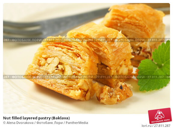 Купить «Nut filled layered pastry (Baklava)», фото № 27811287, снято 22 февраля 2018 г. (c) PantherMedia / Фотобанк Лори