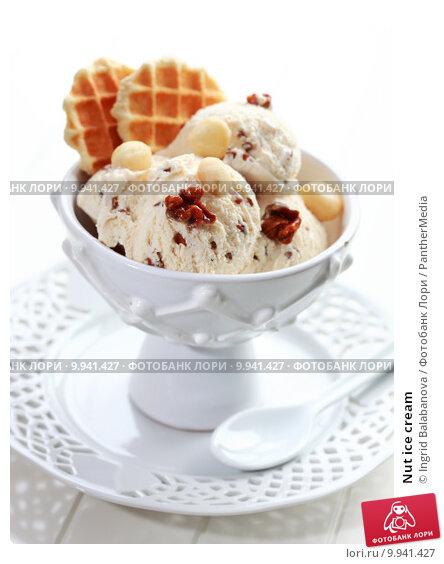Купить «Nut ice cream», фото № 9941427, снято 25 марта 2019 г. (c) PantherMedia / Фотобанк Лори