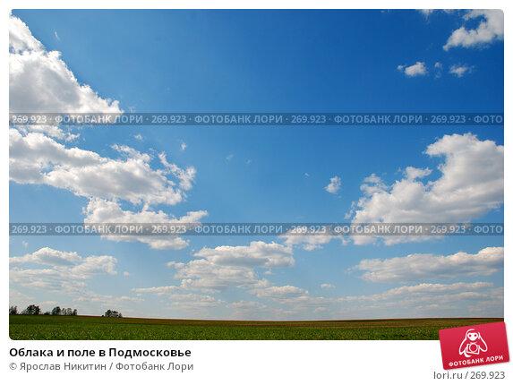 Облака и поле в Подмосковье, фото № 269923, снято 26 апреля 2008 г. (c) Ярослав Никитин / Фотобанк Лори