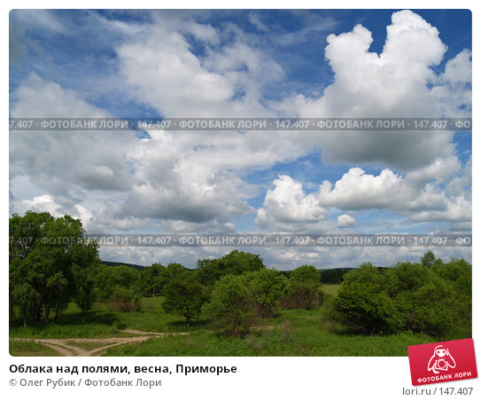 Облака над полями, весна, Приморье, фото № 147407, снято 21 июня 2007 г. (c) Олег Рубик / Фотобанк Лори