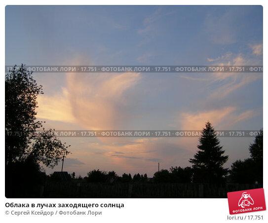 Облака в лучах заходящего солнца, фото № 17751, снято 23 июня 2006 г. (c) Сергей Ксейдор / Фотобанк Лори