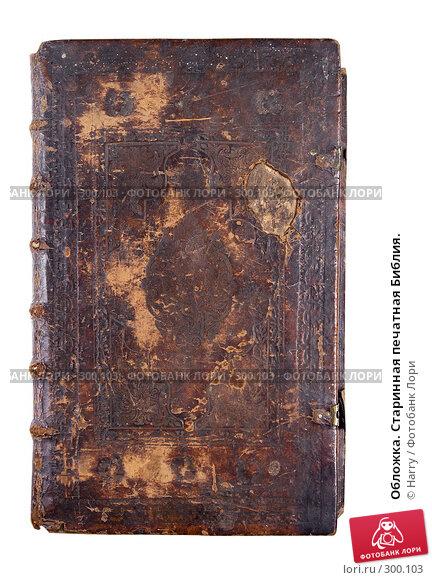 Обложка. Старинная печатная Библия., фото № 300103, снято 17 апреля 2008 г. (c) Harry / Фотобанк Лори