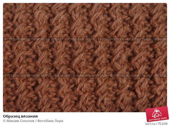 Купить «Образец вязания», фото № 75639, снято 26 июня 2007 г. (c) Максим Соколов / Фотобанк Лори
