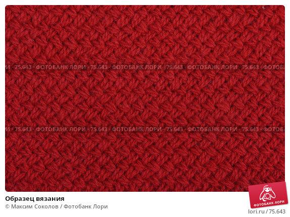 Купить «Образец вязания», фото № 75643, снято 26 июня 2007 г. (c) Максим Соколов / Фотобанк Лори