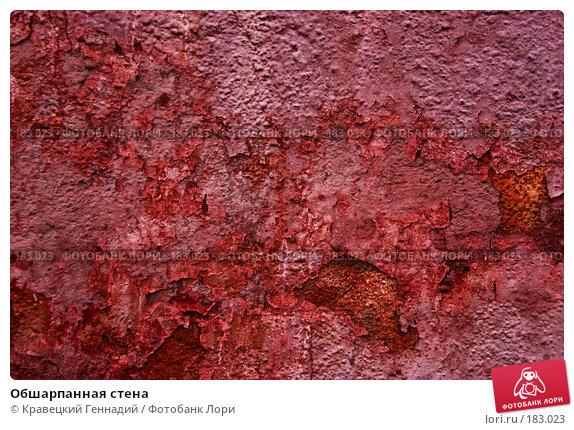Обшарпанная стена, фото № 183023, снято 29 декабря 2004 г. (c) Кравецкий Геннадий / Фотобанк Лори