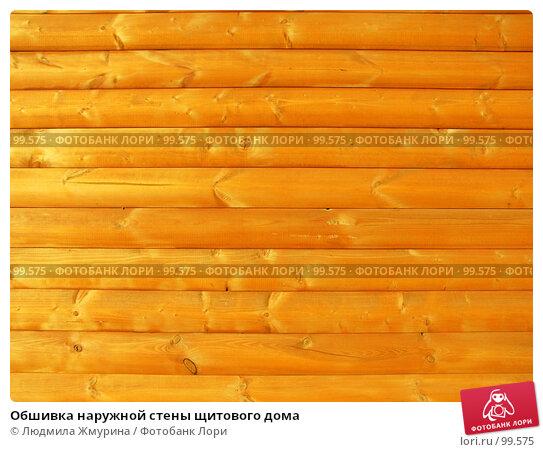 Обшивка наружной стены щитового дома, фото № 99575, снято 24 мая 2017 г. (c) Людмила Жмурина / Фотобанк Лори