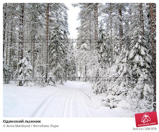 Купить «Одинокий лыжник», фото № 209979, снято 3 февраля 2008 г. (c) Anna Marklund / Фотобанк Лори