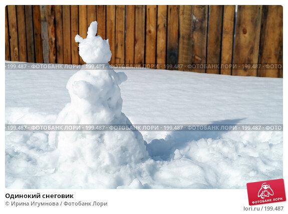 Одинокий снеговик, фото № 199487, снято 18 апреля 2007 г. (c) Ирина Игумнова / Фотобанк Лори