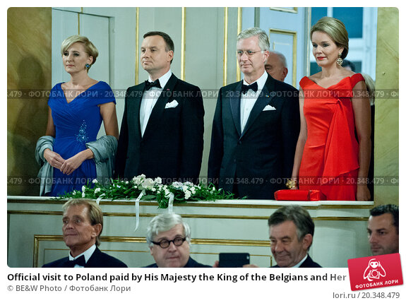 Купить «Official visit to Poland paid by His Majesty the King of the Belgians and Her Majesty the Queen of the Belgians. Reception hosted by His Majesty the King of the Belgians and Her Royal Majesty the Queen of Belgium», фото № 20348479, снято 18 октября 2019 г. (c) BE&W Photo / Фотобанк Лори