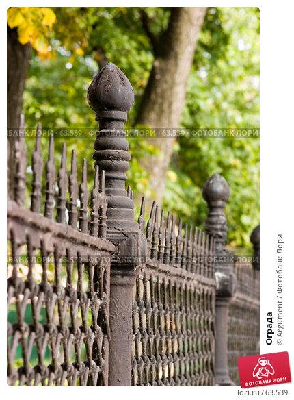 Купить «Ограда», фото № 63539, снято 19 сентября 2006 г. (c) Argument / Фотобанк Лори