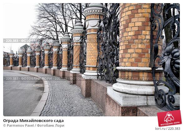 Купить «Ограда Михайловского сада», фото № 220383, снято 14 февраля 2008 г. (c) Parmenov Pavel / Фотобанк Лори