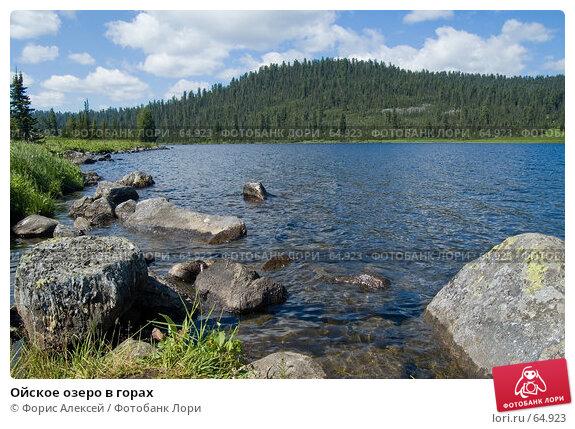 Ойское озеро в горах, фото № 64923, снято 15 июля 2007 г. (c) Форис Алексей / Фотобанк Лори