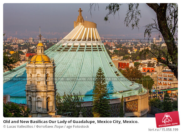Купить «Old and New Basilicas Our Lady of Guadalupe, Mexico City, Mexico.», фото № 15058199, снято 24 февраля 2020 г. (c) age Fotostock / Фотобанк Лори