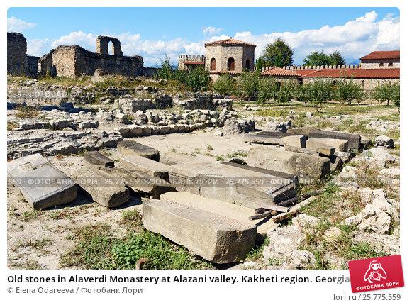 Купить «Old stones in Alaverdi Monastery at Alazani valley. Kakheti region. Georgia», фото № 25775559, снято 18 сентября 2016 г. (c) Elena Odareeva / Фотобанк Лори
