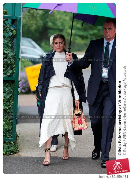 Olivia Palermo arriving at Wimbledon (2017 год). Редакционное фото, фотограф Rocky / WENN.com / age Fotostock / Фотобанк Лори