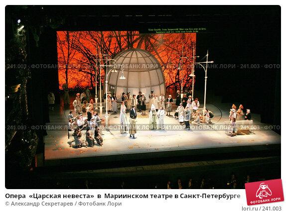 Опера  «Царская невеста»  в  Мариинском театре в Санкт-Петербурге, фото № 241003, снято 28 мая 2017 г. (c) Александр Секретарев / Фотобанк Лори
