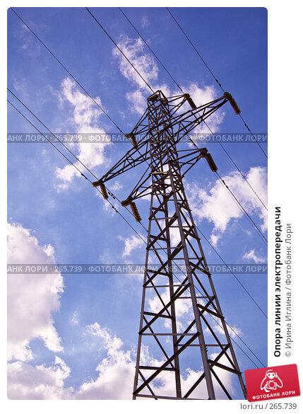 Опора линии электропередачи, фото № 265739, снято 28 апреля 2008 г. (c) Ирина Иглина / Фотобанк Лори