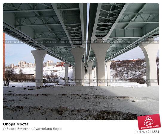 Купить «Опора моста», фото № 241531, снято 16 марта 2008 г. (c) Бяков Вячеслав / Фотобанк Лори