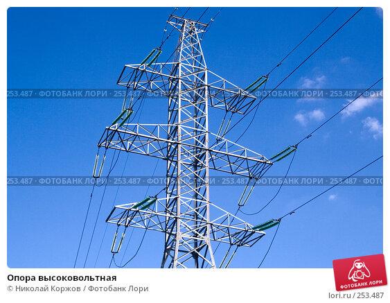 Опора высоковольтная, фото № 253487, снято 29 февраля 2008 г. (c) Николай Коржов / Фотобанк Лори