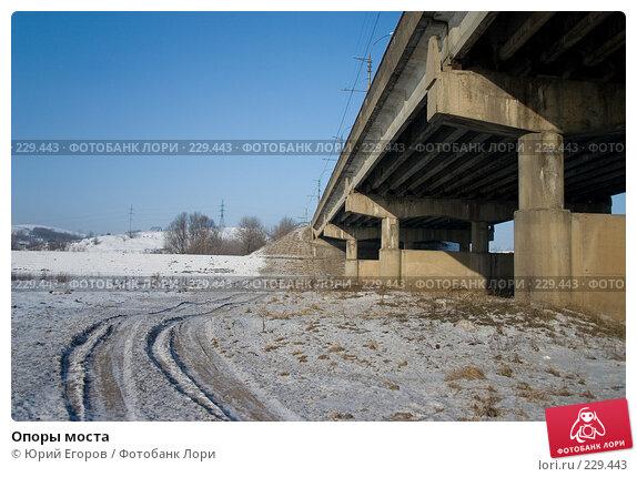 Опоры моста, фото № 229443, снято 2 января 2008 г. (c) Юрий Егоров / Фотобанк Лори