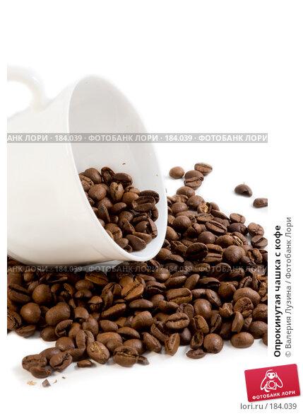 Купить «Опрокинутая чашка с кофе», фото № 184039, снято 12 сентября 2007 г. (c) Валерия Потапова / Фотобанк Лори
