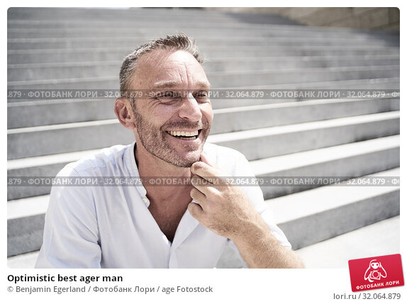Optimistic best ager man. Стоковое фото, фотограф Benjamin Egerland / age Fotostock / Фотобанк Лори