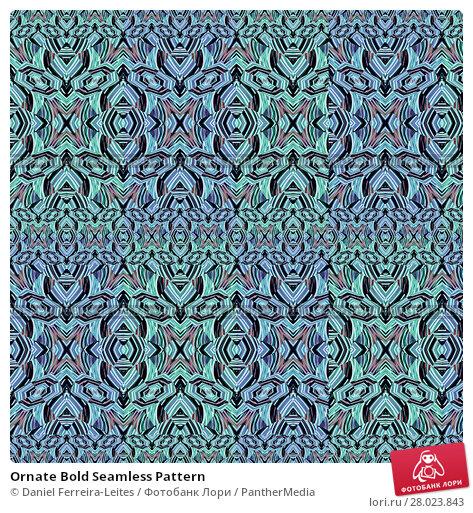 Купить «Ornate Bold Seamless Pattern», фото № 28023843, снято 18 октября 2018 г. (c) PantherMedia / Фотобанк Лори