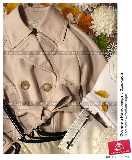 Купить «Осенний Натюрморт с Одеждой», фото № 113751, снято 23 марта 2018 г. (c) Astroid / Фотобанк Лори
