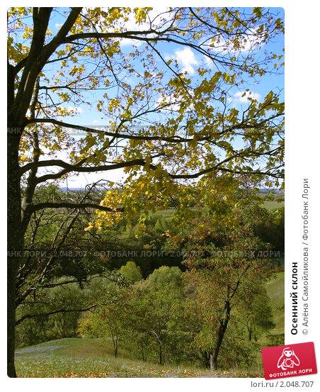 Осенний склон. Стоковое фото, фотограф Алёна Самойликова / Фотобанк Лори