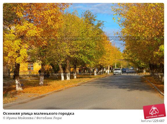 Осенняя улица маленького городка, эксклюзивное фото № 229687, снято 21 октября 2007 г. (c) Ирина Мойсеева / Фотобанк Лори