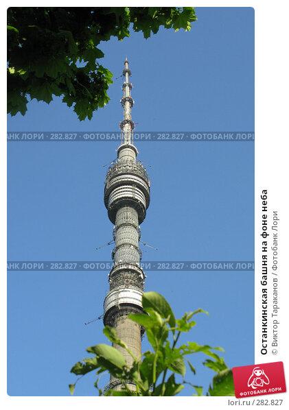 Останкинская башня на фоне неба, эксклюзивное фото № 282827, снято 12 мая 2008 г. (c) Виктор Тараканов / Фотобанк Лори