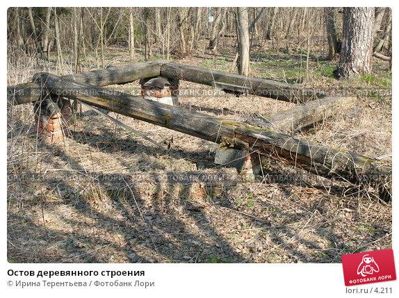 Остов деревянного строения , эксклюзивное фото № 4211, снято 1 мая 2006 г. (c) Ирина Терентьева / Фотобанк Лори