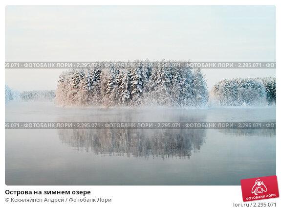 Купить «Острова на зимнем озере», фото № 2295071, снято 3 января 2011 г. (c) Кекяляйнен Андрей / Фотобанк Лори
