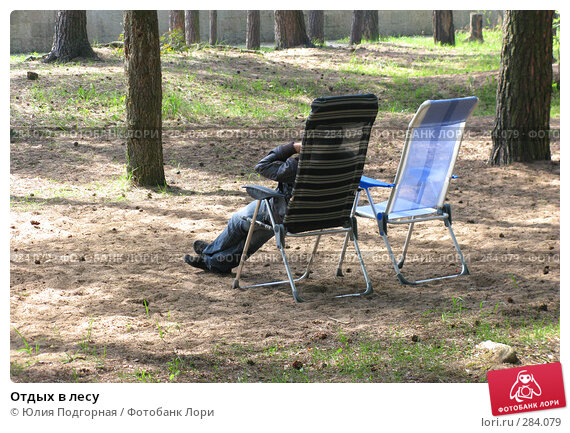 Отдых в лесу, фото № 284079, снято 10 мая 2008 г. (c) Юлия Селезнева / Фотобанк Лори