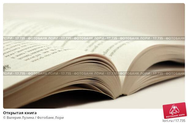 Открытая книга, фото № 17735, снято 29 января 2007 г. (c) Валерия Потапова / Фотобанк Лори