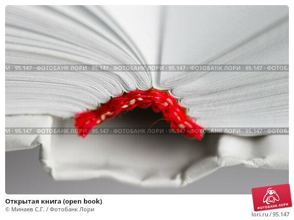 Открытая книга (open book), фото № 95147, снято 27 октября 2006 г. (c) Минаев С.Г. / Фотобанк Лори