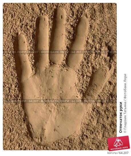 Купить «Отпечаток руки», фото № 64207, снято 13 июня 2007 г. (c) Гладских Татьяна / Фотобанк Лори
