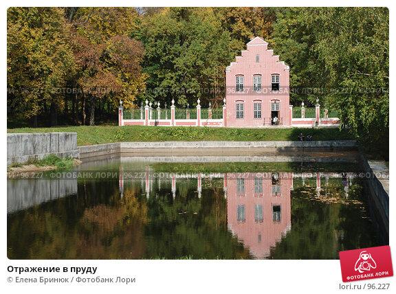 Купить «Отражение в пруду», фото № 96227, снято 29 сентября 2007 г. (c) Елена Бринюк / Фотобанк Лори