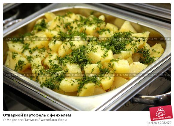 Купить «Отварной картофель с фенхелем», фото № 228479, снято 7 марта 2008 г. (c) Морозова Татьяна / Фотобанк Лори