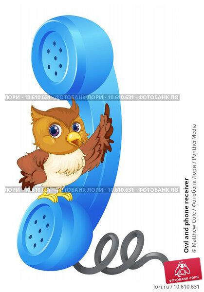 Owl and phone receiver. Стоковая иллюстрация, иллюстратор Matthew Cole / PantherMedia / Фотобанк Лори